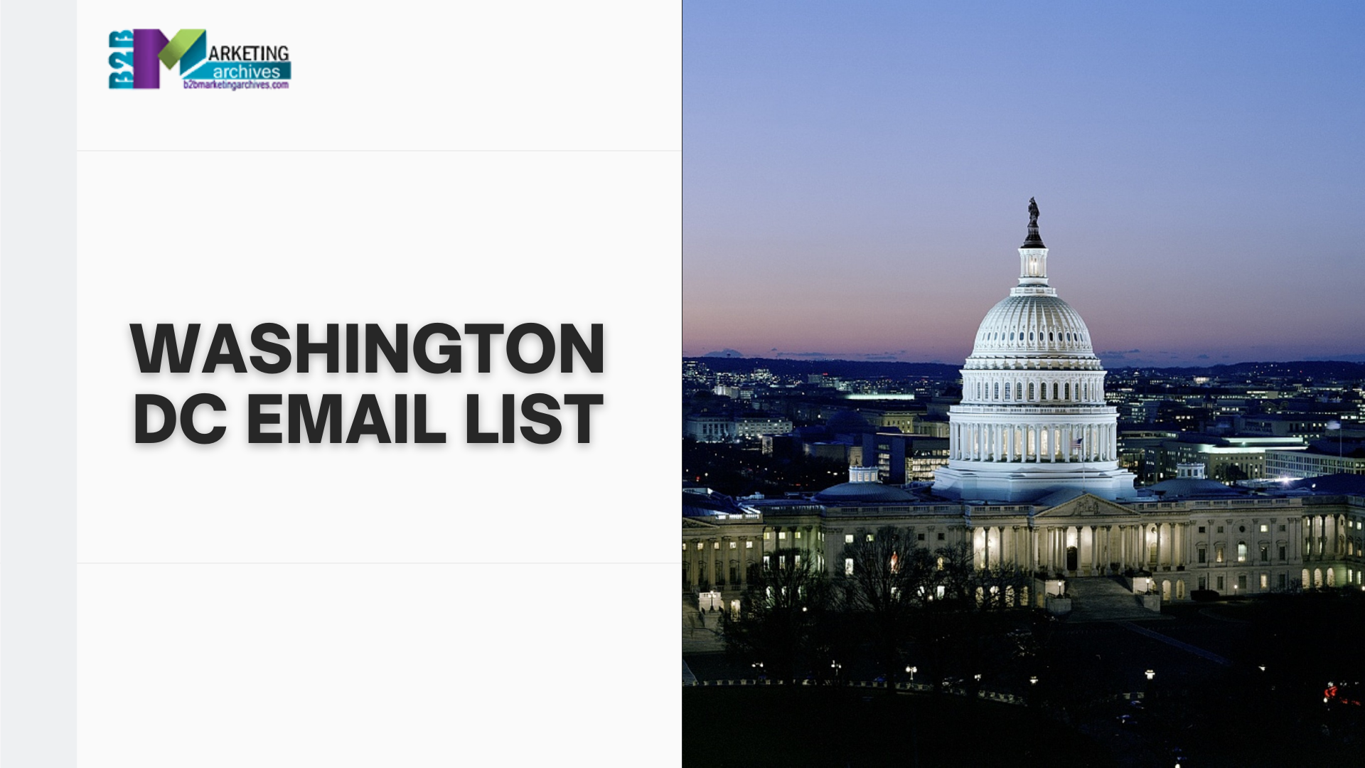 Washington DC Email List